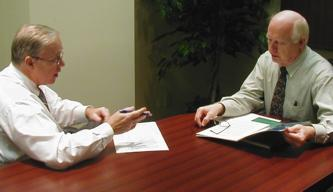 Executive Coaching Session between Mike Armour and a client