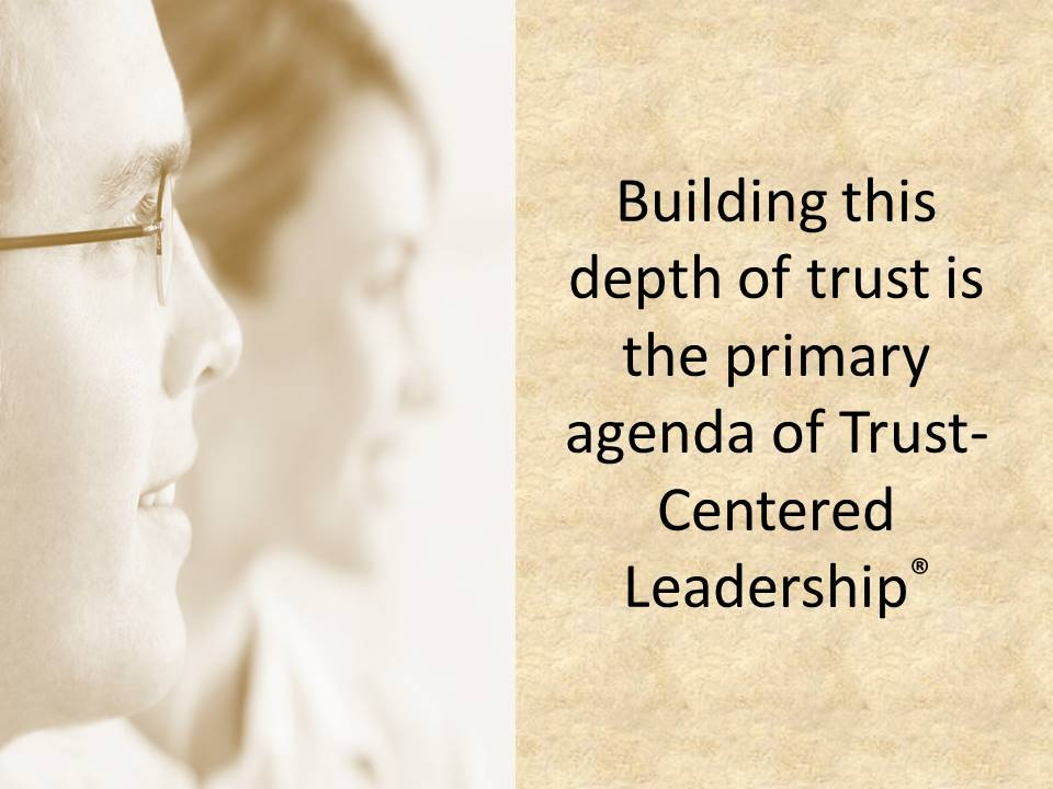 The agenda for trust-centered leadership.