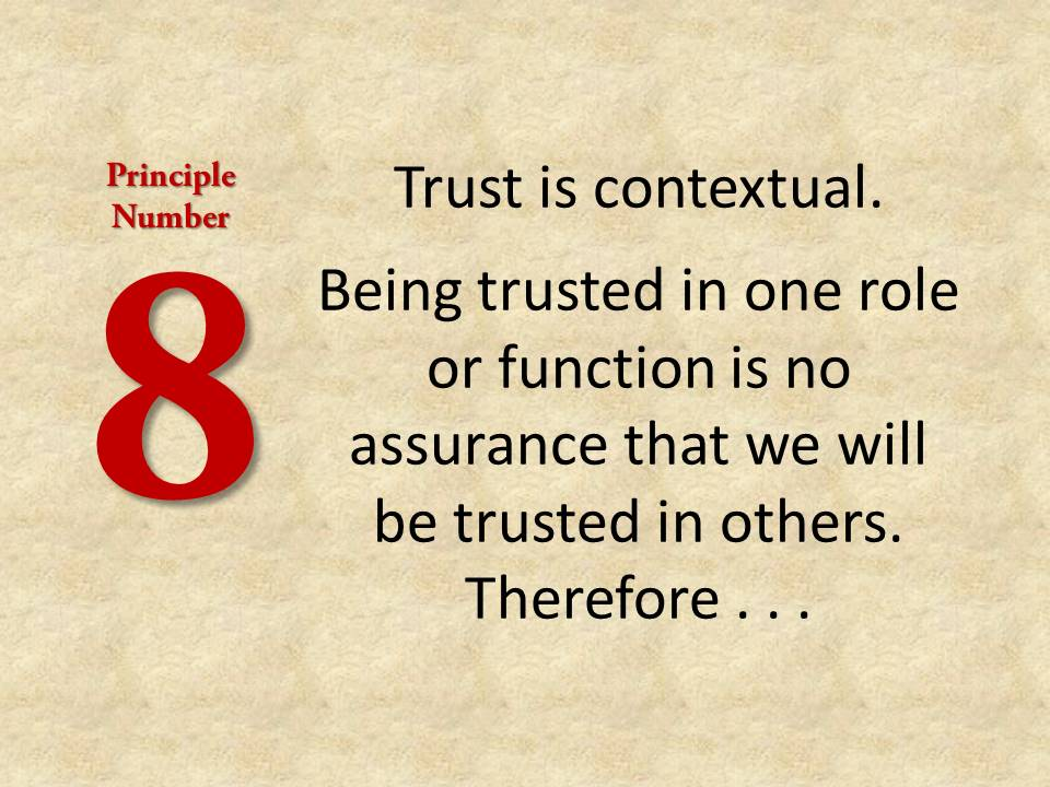 Principle number eight